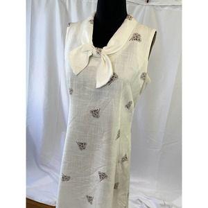 Cute vintage 1970s linen work dress